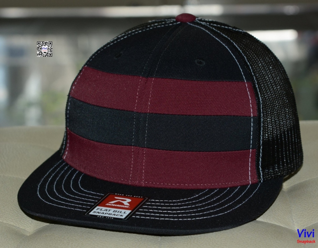 Richardson 162 Striped Front Trucker Snapback