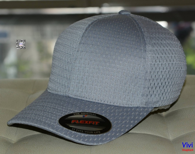 Richardson Official Promesh Fitted Baseball Cap Gray