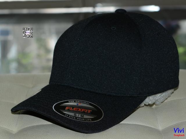 The Flexfit Cool and Dry Pique Mesh Black Cap