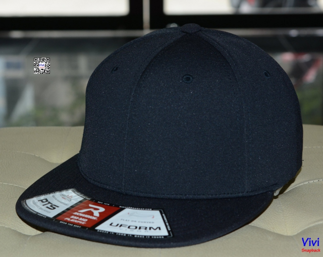 Richardson PTS 20 Uform Visor Fitted Snapback - Dark Navy