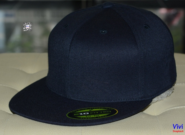 The Premium 210 Flexfit Fitted Dark Navy Snapback