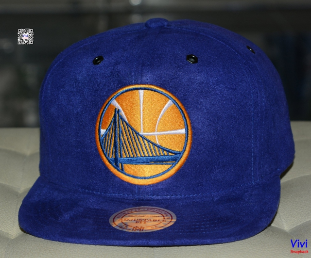 Mitchell & Ness Golden State Warriors Micro Suede Snapback