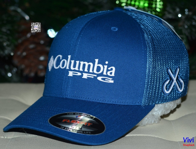 Columbia PFG Mesh Ball Cap - Navy