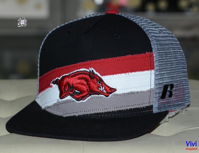 Russell Arkansas Razorbacks Trucker Snapback
