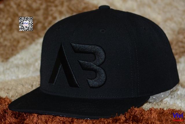 AB Full Black Classic Yupoong Snapback