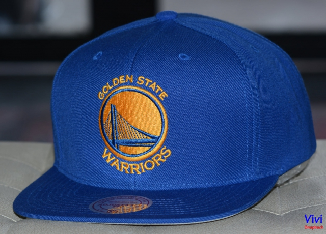 Mitchell & Ness Golden State Warriors Team Logo Snapback Blue