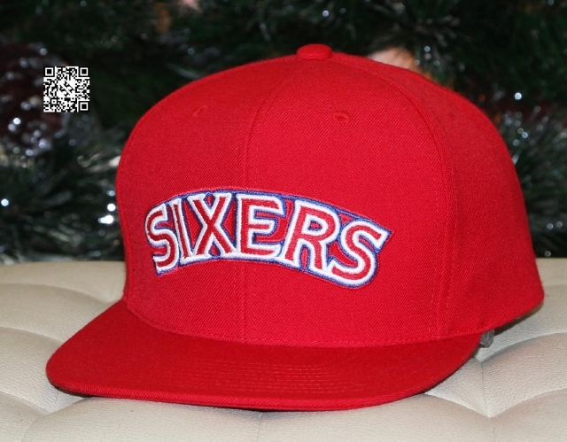 Mitchell & Ness Sixers Snapback Red
