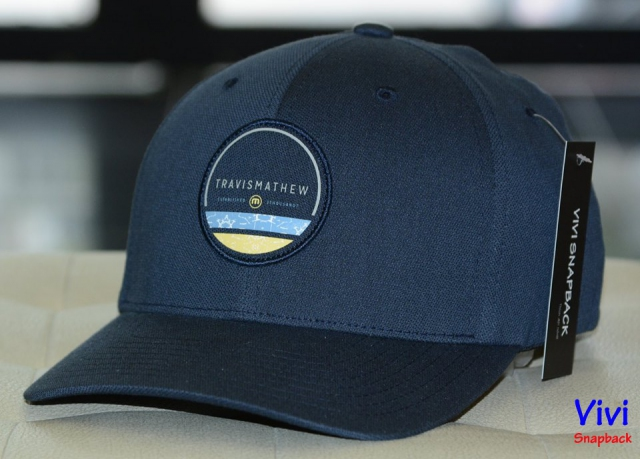 Travis Mathew Hurff Fitted Cap Blue Night