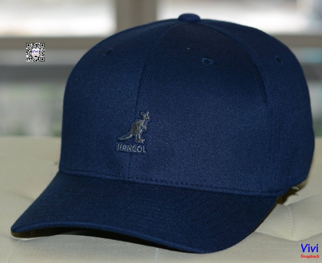 Kangaroo Navy Fitted Cap