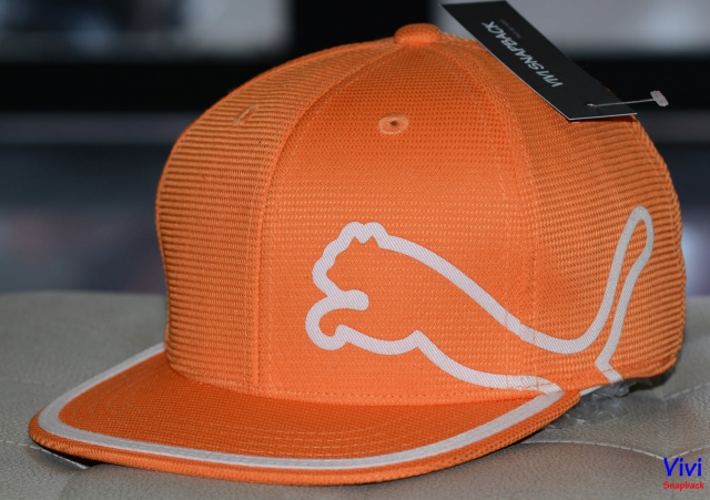 Puma Monoline 210 Fitted Snapback Orange White