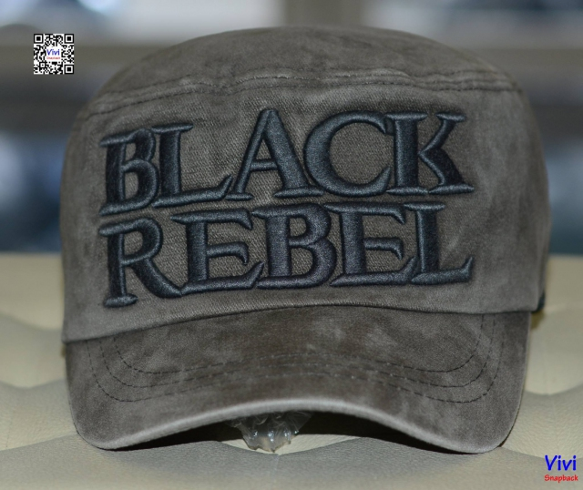 Nón mỏ cục Black Rebel