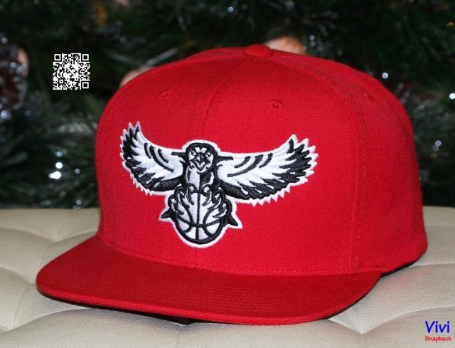 Mitchell & Ness Orleans Pelicans Snapback Red