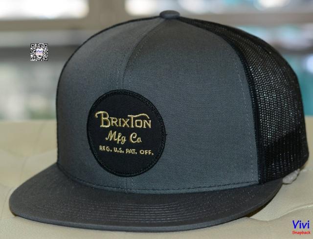 Brixton Wheeler Mesh Maroon Trucker Snapback