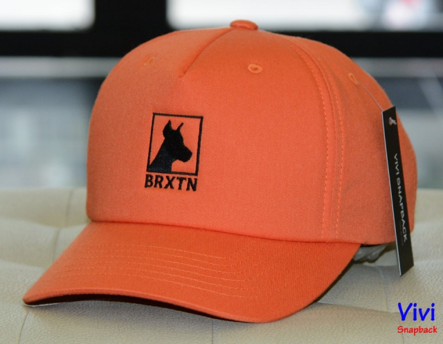 Brixton Beware Velvet Cap Orange