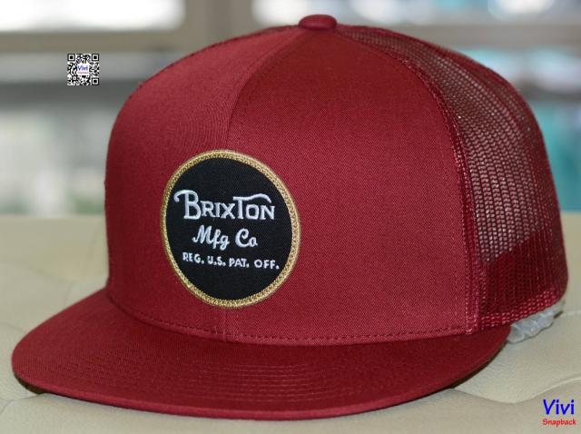 Brixton Wheeler Mesh Maroon Trucker Snapback Red