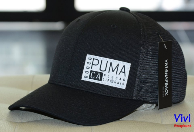 Puma CA Trucker Golf Cap Black