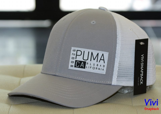 Puma CA Trucker Golf Cap Grey
