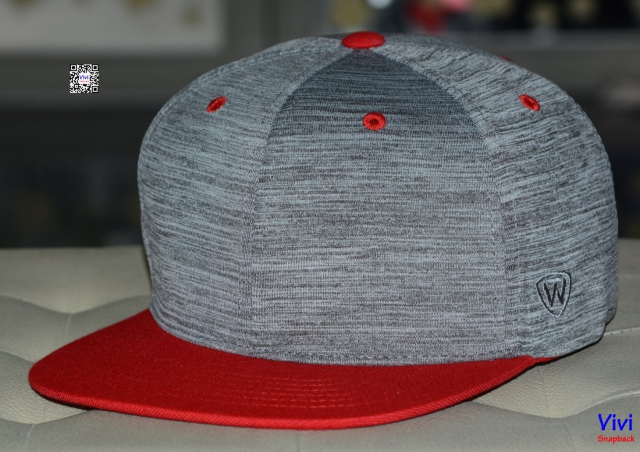 Top of the World 2Tone Gray/ Bright Red  Snapback