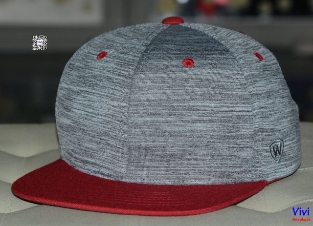 Top of the World 2Tone Gray/ Red Snapback