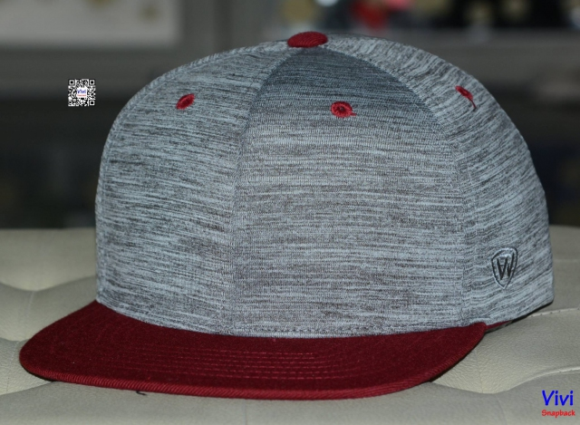 Top of the World 2Tone Gray/Dark Red Snapback