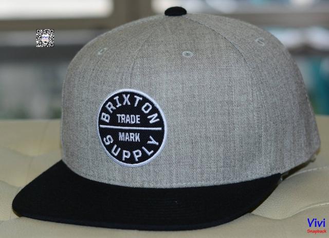 Brixton OATH III Grey/Black Snapback