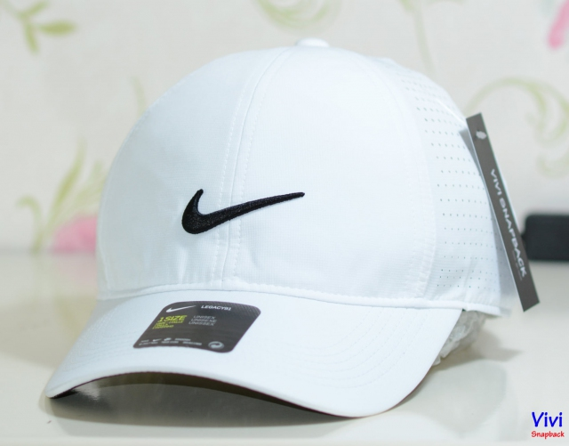 Nón nike trắng Nike Golf Legacy 91 Perforted Adjustable Cap