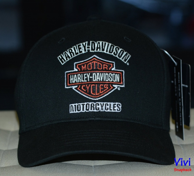Harley Davidson Men's Traditional Stitch Logo Stretch Fiited Cap