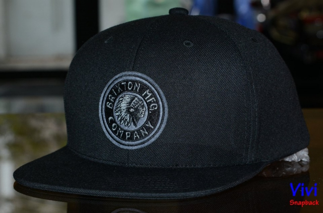 Brixton Rival All Black Snapback