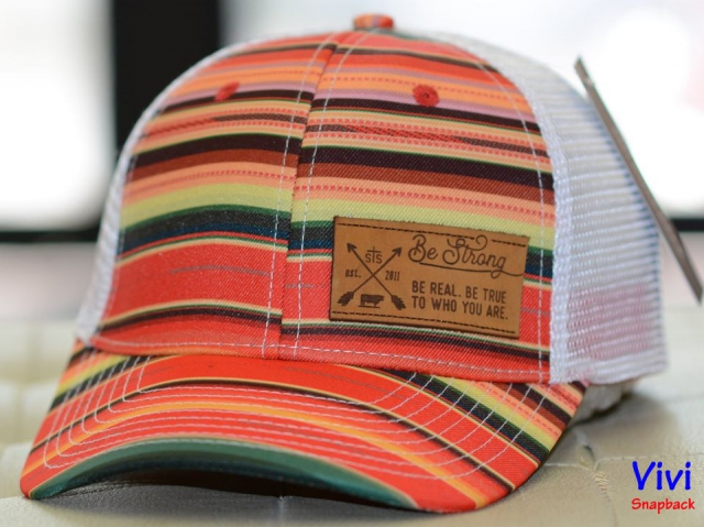 Nón kết lưới STS Be Strong Serape Blanket Leather Trucker Cap