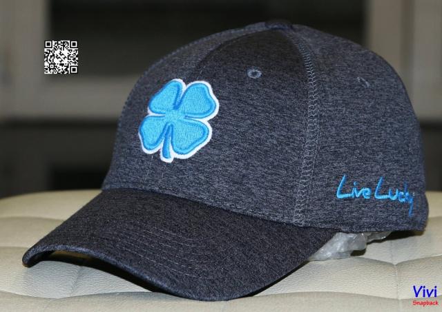 Nón lucky live xám logo xanh