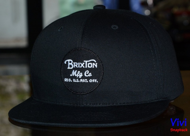 Brixton Wheeler Mesh Maroon Black Snapback