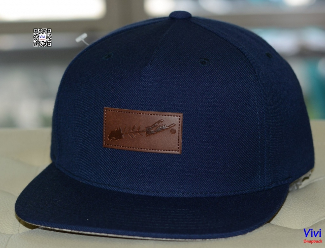 Carleton Long Island Fish Map Under Brim Navy Snapback
