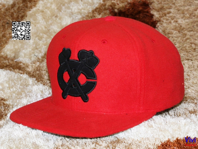 Mitchell & Ness Wool Red Snapback