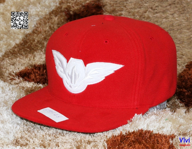 Mitchell & Ness Wool Red Logo White Snapback