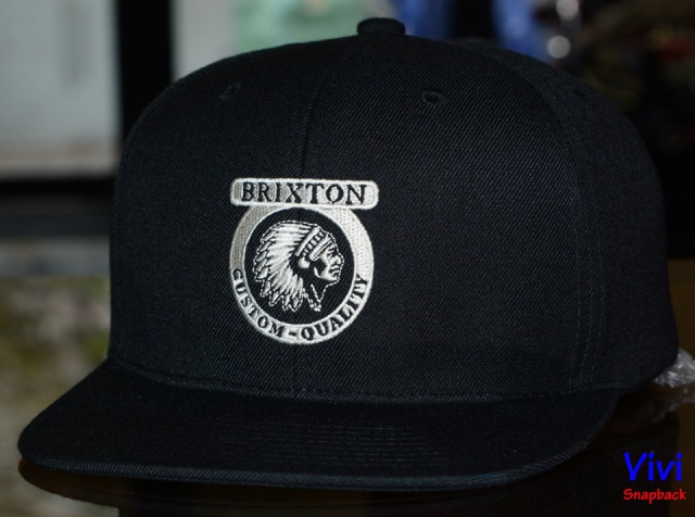 Brixton Custom Quality Black Snapback
