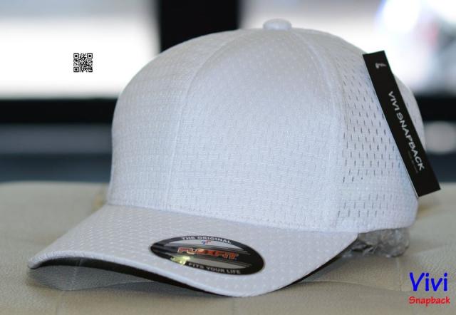 Nón bít đuôi trắng - FLEXFIT ATHLETIC MESH CAP