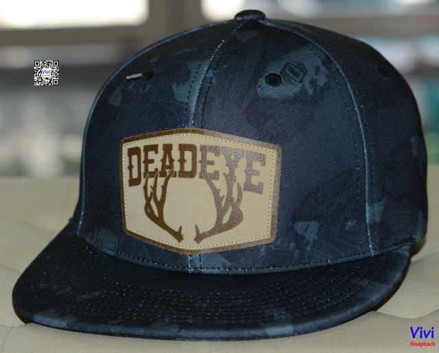 Buck Patch Midnight Camo Deadeye Fitted Snapback