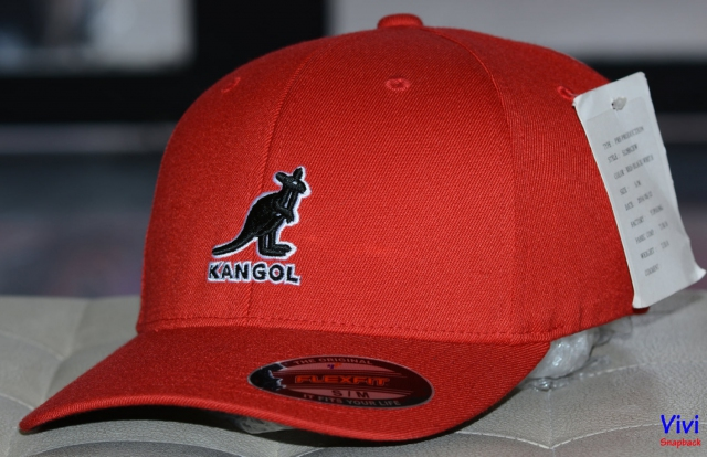 Nón Kangol Wool Flexfit Baseall Fitted Cap Red