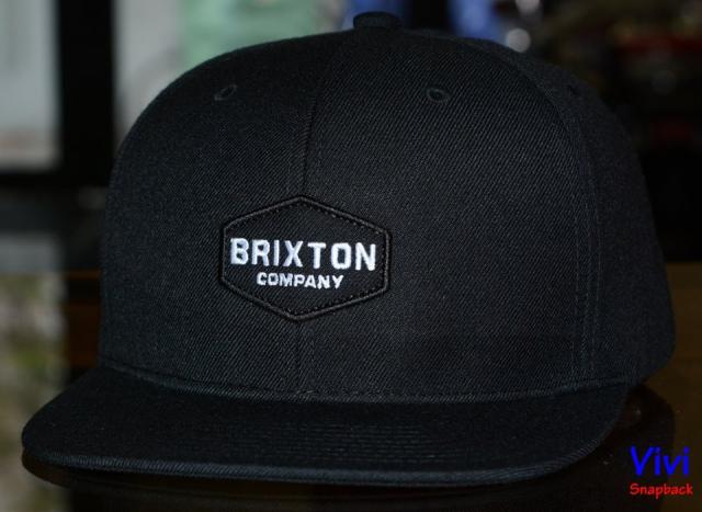 Brixton Mens Obtuse Black Snapback