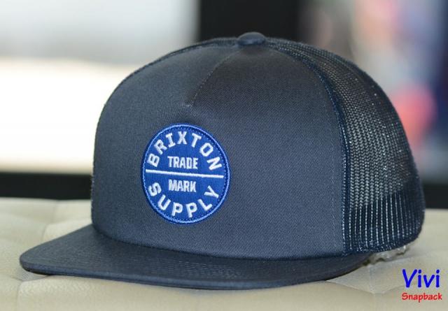 Brixton OATH III  Patriot Blue Trucker Snapback