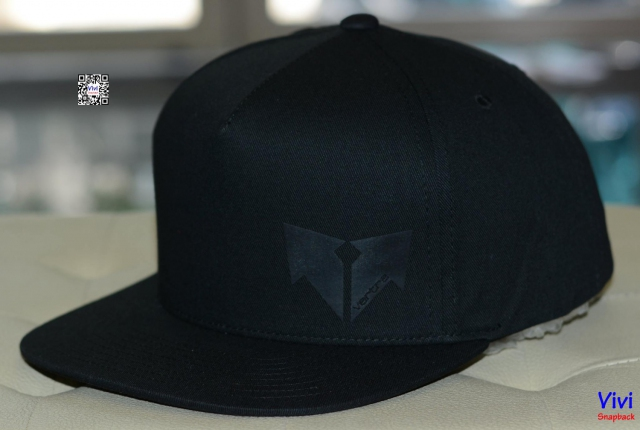 Full Black Logo Snapback