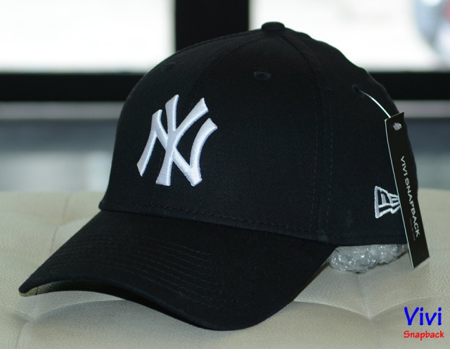 Nón NY New Era Fitted Logo White