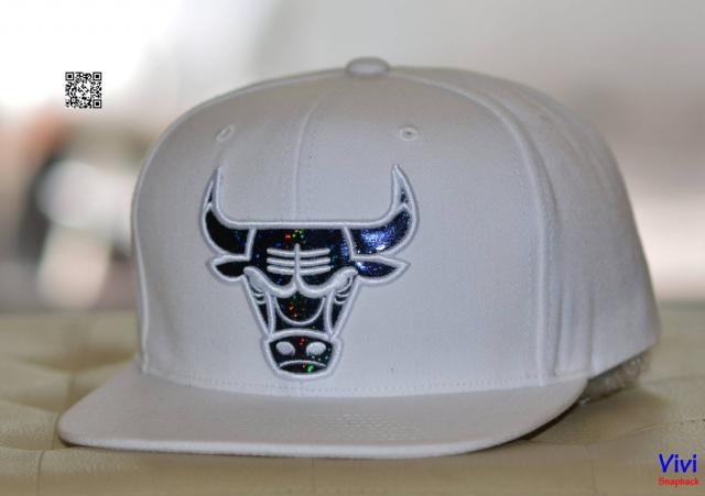 Mitchell & Ness Chicago Bulls Snapback White