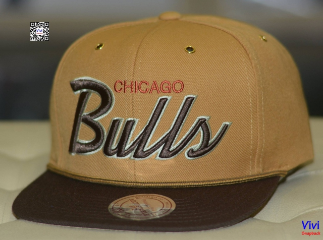 Mitchell & Ness Chicago Bulls Snapback Gold/Brown
