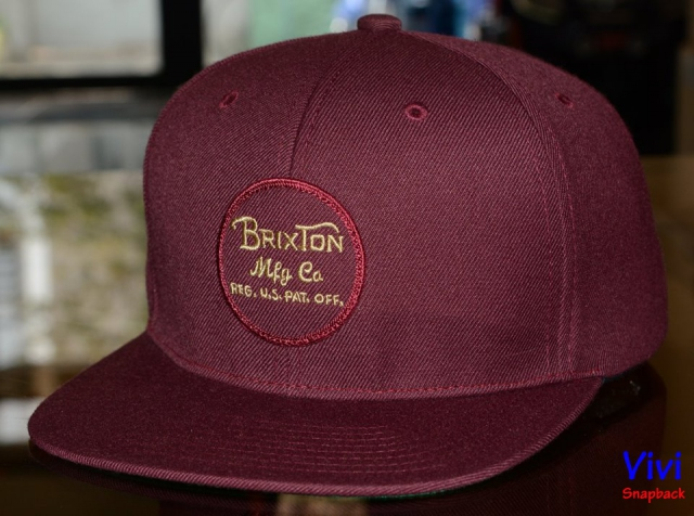 Brixton Wheeler Mesh Maroon Snapback