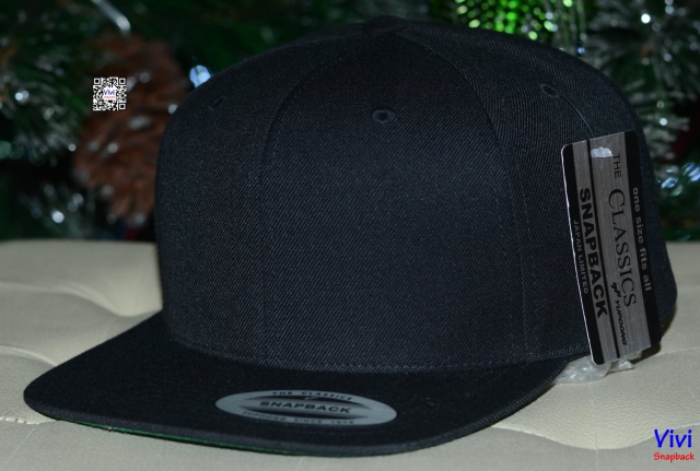 The Classic Yupoong Black Snapback
