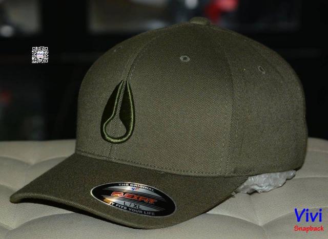 Nixon Logo Fitted Cap - Màu rêu camo