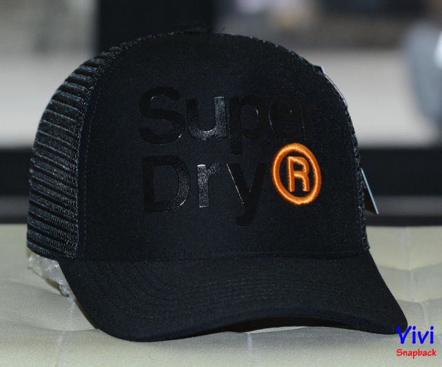 Super Dry Trucker Black Cap