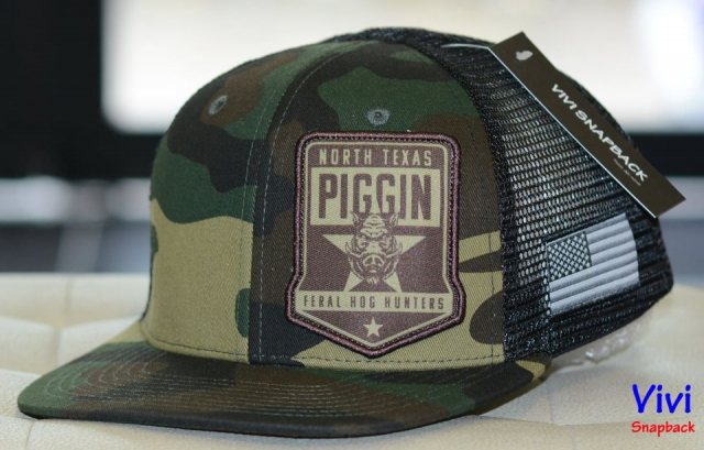 Snapback Camo Hunter North Texas Piggin Trucker