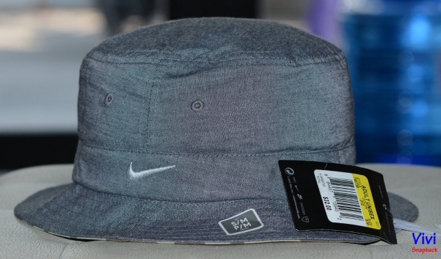 Bucket Nike Golf Dri-Fit Ox Reversible Hat Course Cap (Cool Grey and Camo Print)